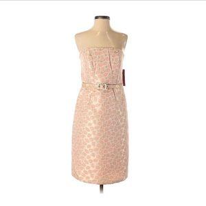 Merona Strapless Formal Dress with Waist Belt